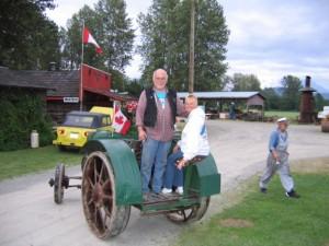 Casey Van den Dorpel on Hart-Parr tractor